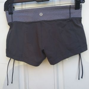 Lululemon Grey Gray Shorts With Side Ruched 4